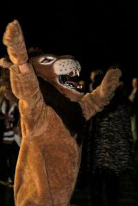 Me as the school mascot Fall 2012