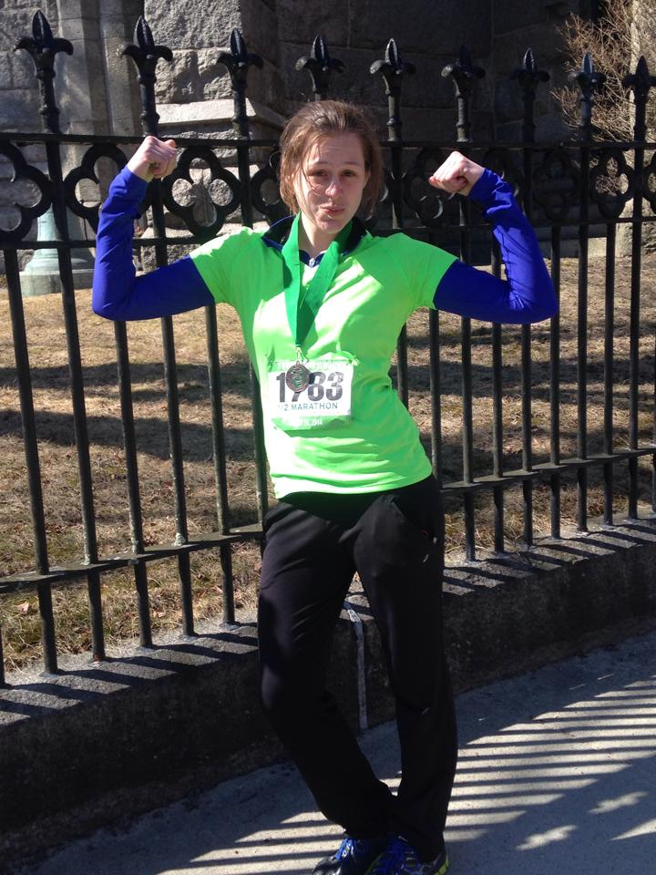 My first half marathon! March 2014 .jpg